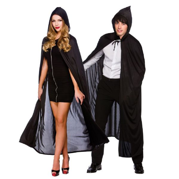 Adult Cape with Hood - Black
